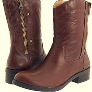 Jessica Simpson brown leather ankle boots 7.5M